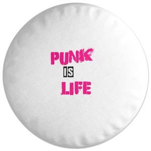 Punk Is Life Round Cushion