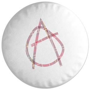 Punk Sign Round Cushion