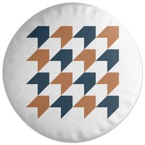 Retro Chevrons Round Cushion