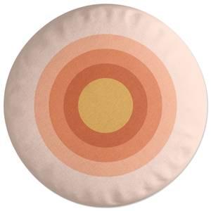 Summer Retro Rainbow Round Cushion