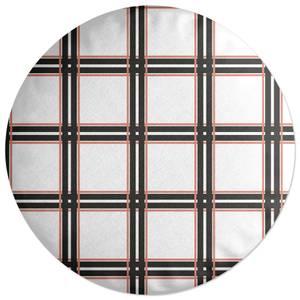 Tartan Modern Round Cushion