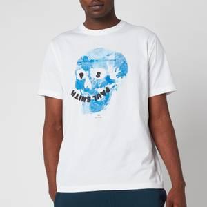 PS Paul Smith Men's Regular Fit Floral Skull T-Shirt - White