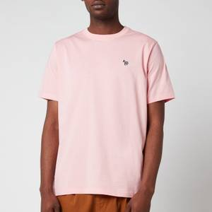 PS Paul Smith Men's Regular Fit Zebra Badge T-Shirt - Pink