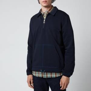 PS Paul Smith Men's Regular Fit Half Zip Sweatshirt - Dark Navy