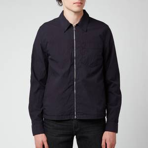 PS Paul Smith Men's Casual Zip Through Shirt - Dark Navy