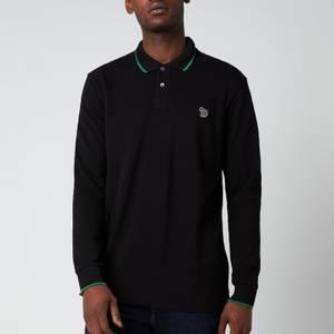 PS Paul Smith Men's Long Sleeve Tipped Polo Shirt - Black