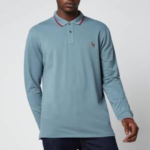 PS Paul Smith Men's Long Sleeve Tipped Polo Shirt - Petrol Blue