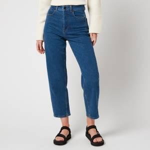 Whistles Women's Organic High Waist Barrel Jeans - Denim
