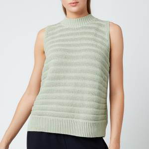 Whistles Women's Ribbed Knitted Tank - Sage