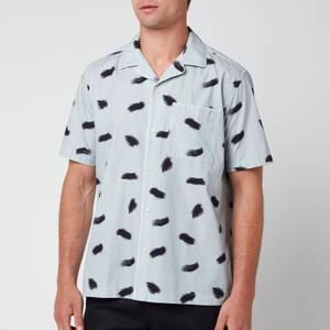 Ted Baker Men's Sourdo Brush Stroke Short Sleeve Shirt - Light Blue