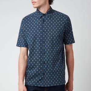 Ted Baker Men's Ginton Diamond Gio Short Sleeve Shirt - Navy