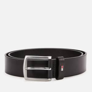Tommy Hilfiger Men's Denton Leather Belt - Black