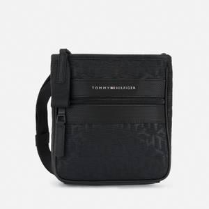 Tommy Hilfiger Men's Elevated Nylon Monogram Mini Crossover Bag - Black
