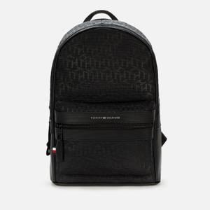 Tommy Hilfiger Men's Elevated Nylon Monogram Backpack - Black