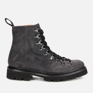 Grenson Women's Nanette Suede Hiking Style Boots - Vintage Black