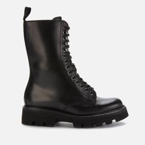 Grenson Women's Mavis Leather Lace Up Boots - Black