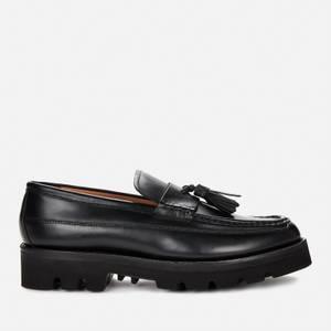 Grenson Men's Booker Leather Tassle Loafers - Black