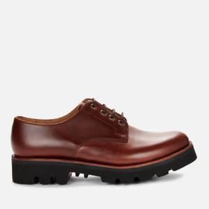 Grenson Men's Landon Leather Derby Shoes - Chestnut