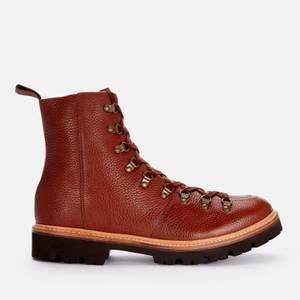 Grenson Men's Brady Grained Leather Hiking Style Boots - Tan