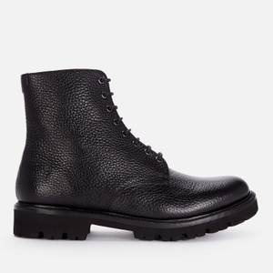 Grenson Men's Hadley Grained Leather Lace Up Boots - Black