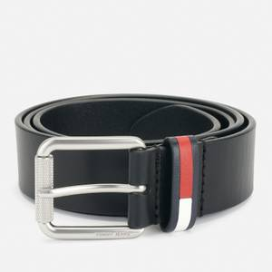 Tommy Jeans Men's Flag Roller Belt - Black