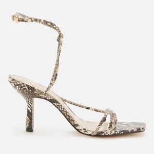 Ted Baker Women's Tefflop Snake Print Strappy Heeled Sandals - Grey