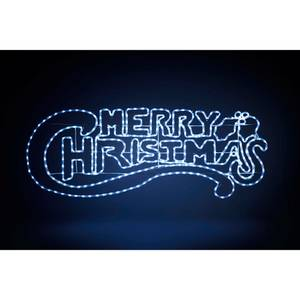 Merry Christmas Twinkle LED Rope Outdoor Christmas Light Decoration - 145cm