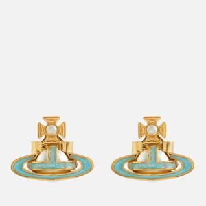 Vivienne Westwood Women's Simonetta Bas Relief Earrings - Gold/Pearl/Blue