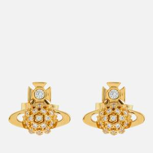 Vivienne Westwood Women's Donna Bas Relief Earrings - Gold White CZ