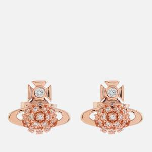Vivienne Westwood Women's Donna Bas Relief Earrings - Pink Gold White CZ