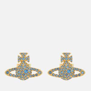 Vivienne Westwood Women's Grace Bas Relief Stud Earrings - Gold Light Sapphire