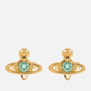 Vivienne Westwood Women's Nano Solitaire Earrings - Gold Chrysolite