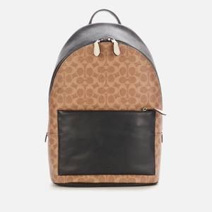 Coach Men's Metropolitan Soft Backpack In Signature Colourblock - Khaki Multi