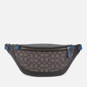 Coach Men's League Belt Bag In Signature Jacquard - Charcoal/Black