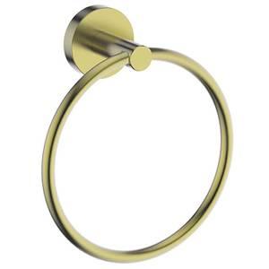 Aero Towel Ring - Brushed Brass