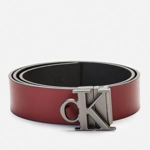 Calvin Klein Jeans Men's Leather Belt - Turkish Coffee