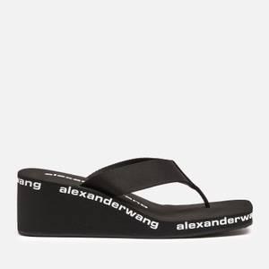 Alexander Wang Women's Wedged Flip Flops - Black
