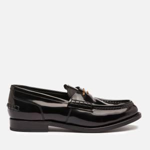 Alexander Wang Women's Carter Logo Letters Leather Loafers - Black
