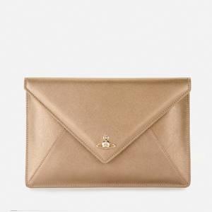 Vivienne Westwood Women's Victoria Envelope Clutch Bag - Gold