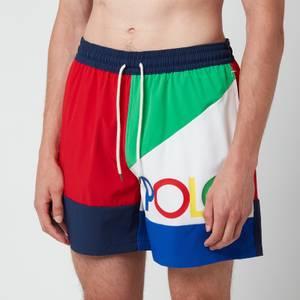 Polo Ralph Lauren Men's Traveller Swimming Trunks - Royal Multi
