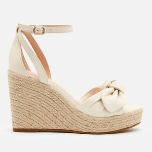 Kate Spade New York Women's Tianna Leather Wedged Sandals - Parchment