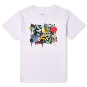 DC Batman Collage Kids' T-Shirt - White