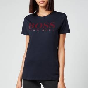 BOSS Women's C_Elogo3 T-Shirt - Open Blue