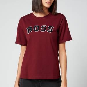 BOSS Women's C_Evarsy T-Shirt - Dark Red