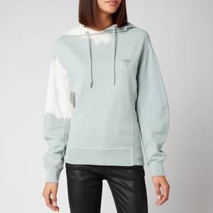 Guess Women's Selma Hooded Fleece - Grey Citadel Bleach