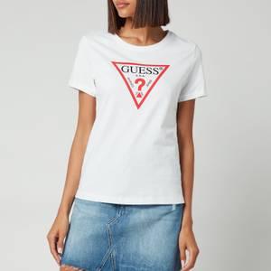 Guess Women's Short Sleeve Crewneck Original T-Shirt - Pure White