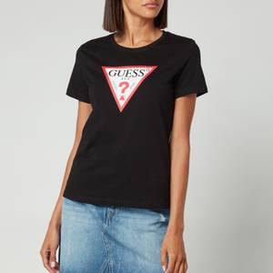 Guess Women's Short Sleeve Crewneck Original T-Shirt - Jet Black