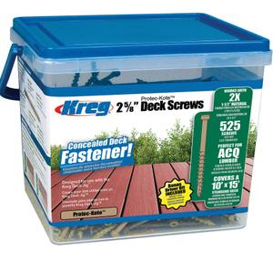 Kreg SDK-C262W-525 2x Protec-Kote Deck Screws - 525 Pack