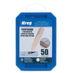 Kreg P-PNT-INT Solid-Wood Pocket-Hole Plug-Paint Grade - 50 Pack