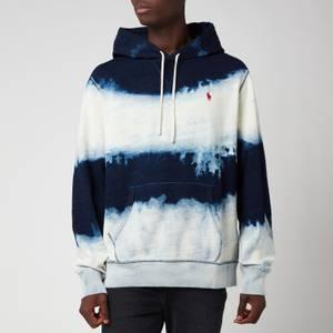 Polo Ralph Lauren Men's Garment Dyed Fleece Hoodie - Dark Indigo Cloud Wash